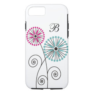 Modern Floral Pattern - Custom Monogram iPhone 8/7 Case