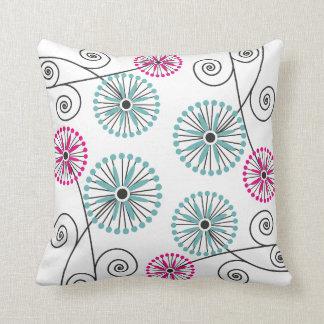 Modern Floral Pattern Decorative Throw Pillow