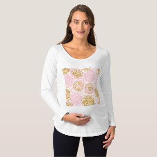 Modern floral pattern, gold,pink,white,chic,beauti maternity T-Shirt