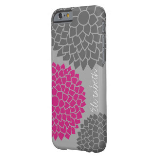 Modern Floral pattern - pink gray Barely There iPhone 6 Case