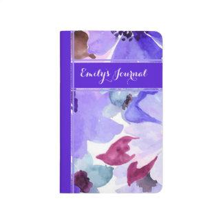 Modern Floral Purple Bound Journal