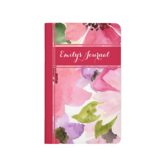 Modern Floral Red Bound Journal
