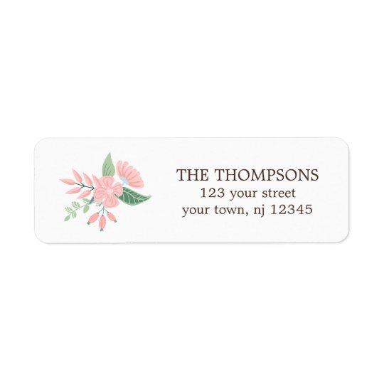 Modern Floral Return Address Label