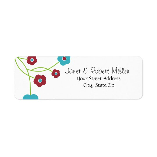 Modern Floral Return Address Labels