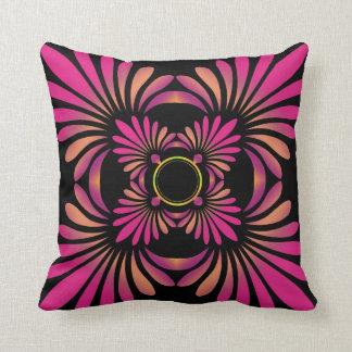 Modern Floral Throw Pillows:Reversible Pink Pillows