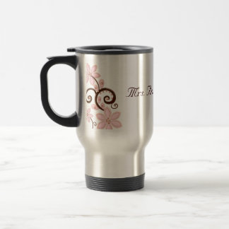 Modern Floral Travel Mug