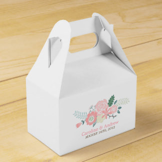 Modern Floral Wedding Favor Box