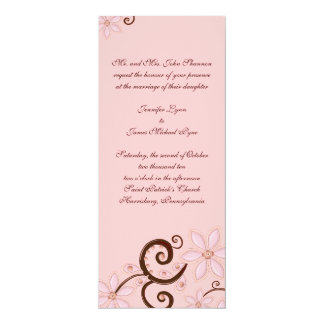 Modern Floral Wedding Invitation - tea length