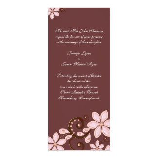 Modern Floral Wedding Invitation - tea length