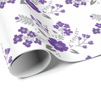 Modern Floral Wedding Wrapping Paper