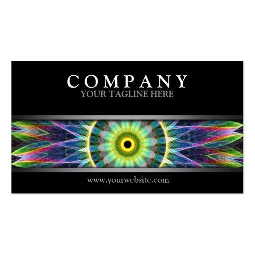 Modern Flower Eye Mandala Business Card Template