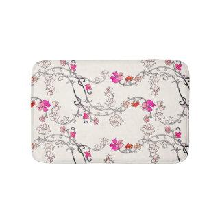 Modern Flower Pattern 227 Bathroom Mat