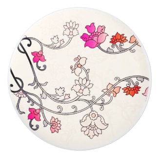Modern Flower Pattern 227 Ceramic Knob