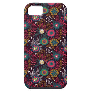 Modern Flower Pattern Apple iPhone 5 Case