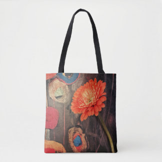 Modern Flower Power Tote Bag