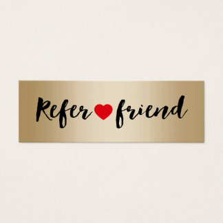 Modern Foil Gold Referral Mini Business Card