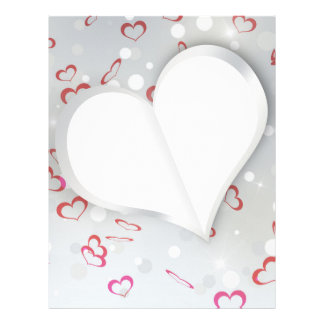 Modern Folded Paper Heart - Letterhead