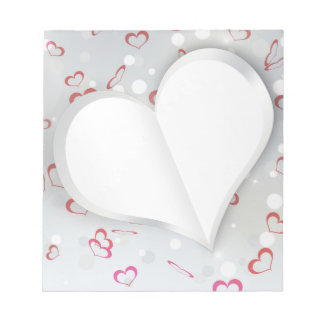 Modern Folded Paper Heart - Notepad