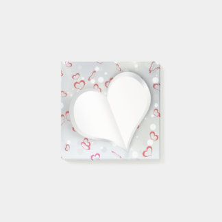 Modern Folded Paper Heart - Post-it® Notes