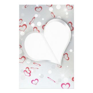 Modern Folded Paper Heart - Stationery