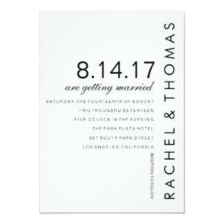 Modern Folio Wedding Invitation