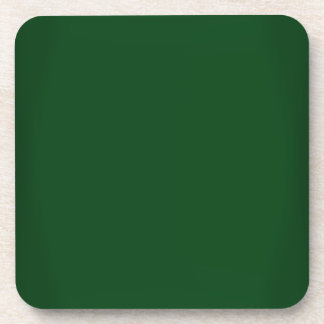 Modern Forest Green Customizable Coaster