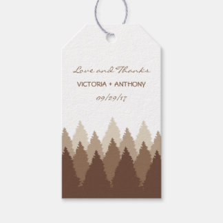 Modern Forest Range Woodland Wedding Favour Pack Of Gift Tags