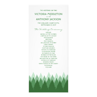 Modern Forest Range Woodland Wedding Program