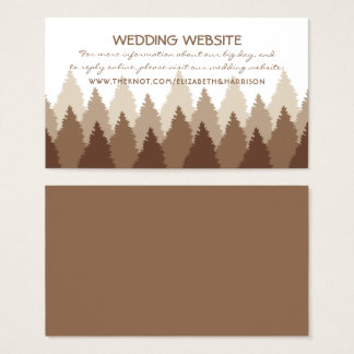 Modern Forest Range Woodland Wedding Website Business Card