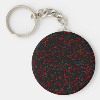 Modern Fractal Art Black Red Patterns Stylish Cool Basic Round Button Keychain