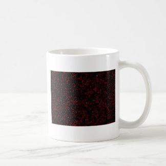 Modern Fractal Art Black Red Patterns Stylish Cool Coffee Mug