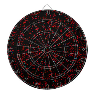 Modern Fractal Art Black Red Patterns Stylish Cool Dartboards