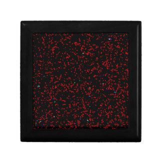 Modern Fractal Art Black Red Patterns Stylish Cool Gift Boxes