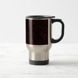 Modern Fractal Art Black Red Patterns Stylish Cool Travel Mug