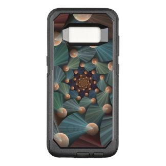 Modern Fractal Art With Depth, Brown, Slate, Blue OtterBox Commuter Samsung Galaxy S8 Case