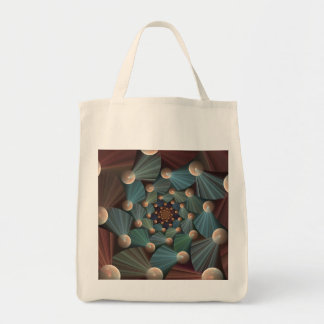 Modern Fractal Art With Depth, Brown, Slate, Blue Tote Bag