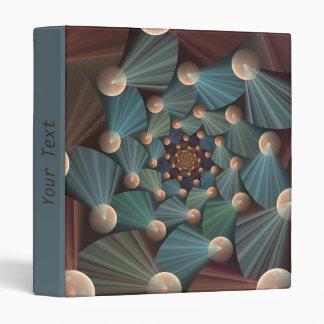Modern Fractal Art With Depth, Brown, Slate, Blue Vinyl Binder