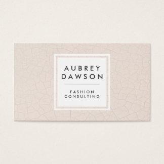Modern Fractured Pattern Beige Business Card
