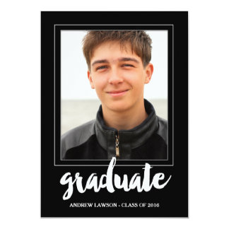 Modern Frame | Photo Graduation Party Invite