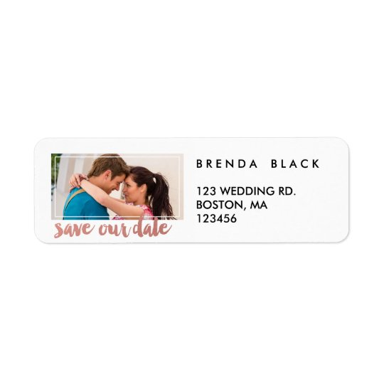 Modern Frame | Photo Save the Date Address Labels