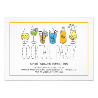 Modern Fun Cocktail Party Card