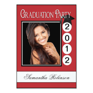Modern Fun Graduation Party Custom Photo Card