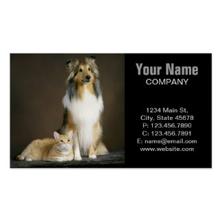 Modern funny cute pet lover pack of standard business cards