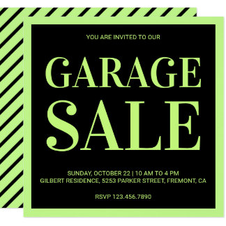 Modern Garage Sale Invitation