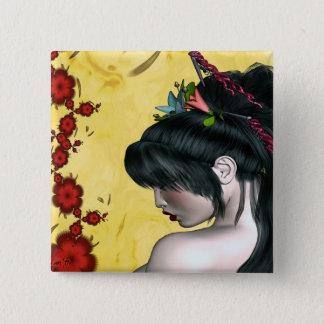Modern Geisha 2 Inch Square Button