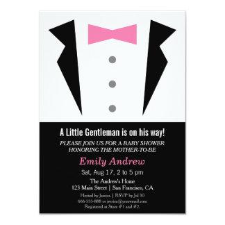 Modern Gentleman Tuxedo Bow Tie Baby Boy Shower Card