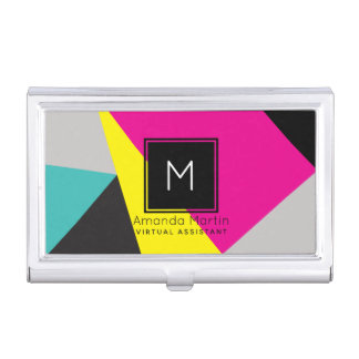 Modern Geo Colors Business Card Holder