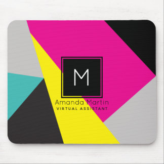 Modern Geo Colors Mouse Pad