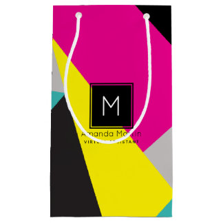 Modern Geo Colors Small Gift Bag