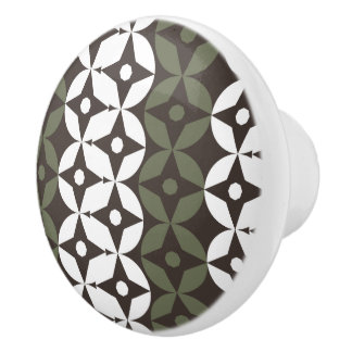 Modern Geo Pattern 840 Ceramic Knob